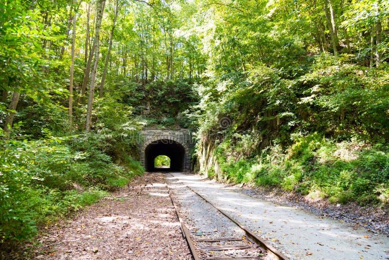 Traccia Howard Tunnel della ferrovia della contea di York fotografia stock