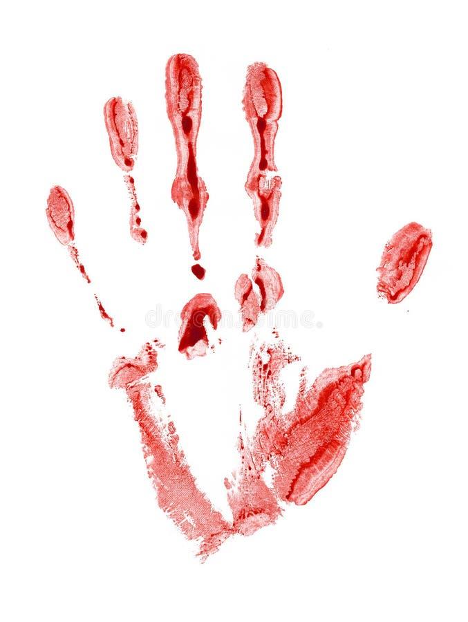 Traccia sanguinante illustrazione di stock