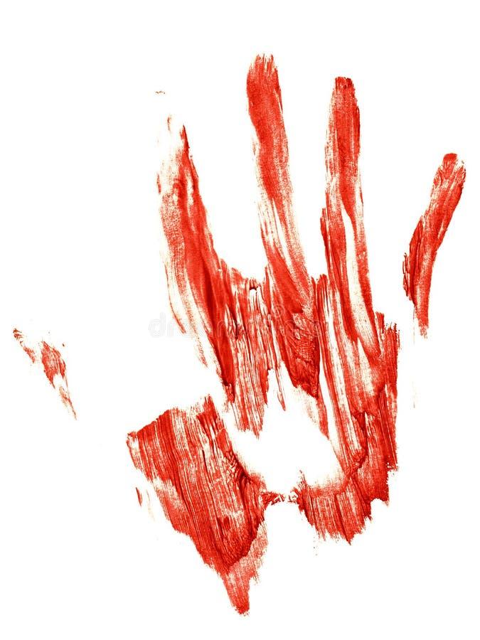 Traccia sanguinante di una mano umana illustrazione vettoriale