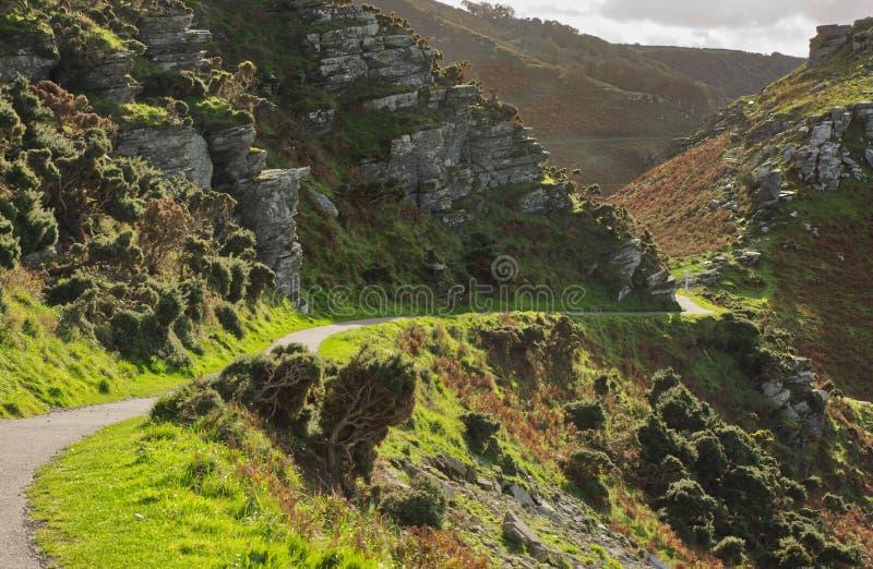 Tracciato della costa sud-occidentale, Lynton, Devon, Inghilterra immagine stock