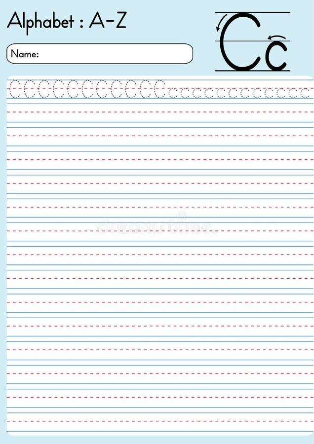 Tracciato di alfabeto della lettera C illustrazione vettoriale