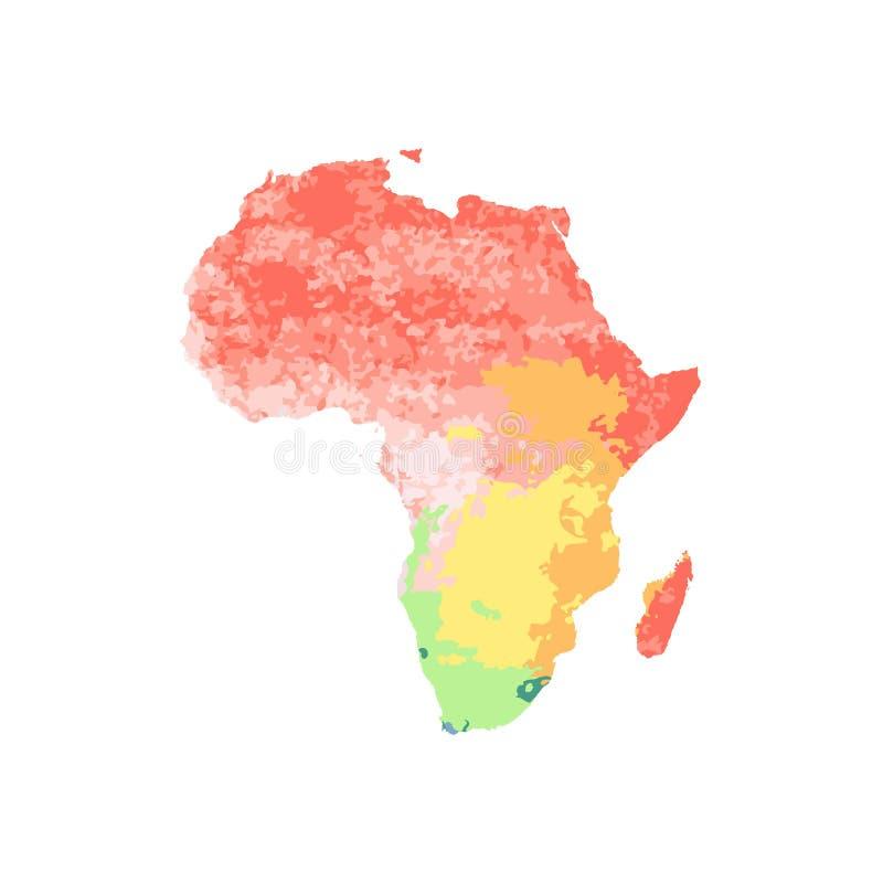 Trace África con rojo, anaranjado, amarillo, azul, verde, púrpura libre illustration