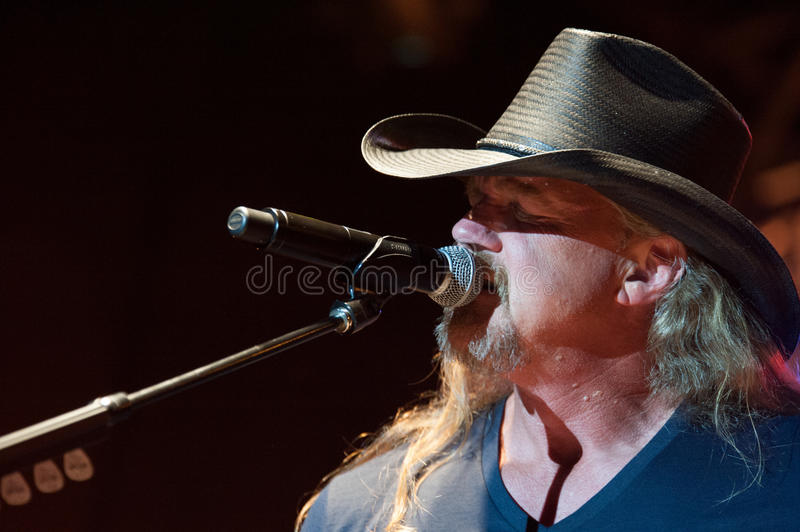 Trace Adkins. CITRUS HEIGHTS, CA - August 29: Trace Adkins performs at the Sunrise at Night Concert Series at Sunrise Marketplace in Citrus Heights, California royalty free stock photos