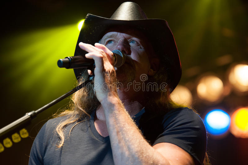 Trace Adkins. CITRUS HEIGHTS, CA - August 29: Trace Adkins performs at the Sunrise at Night Concert Series at Sunrise Marketplace in Citrus Heights, California stock image