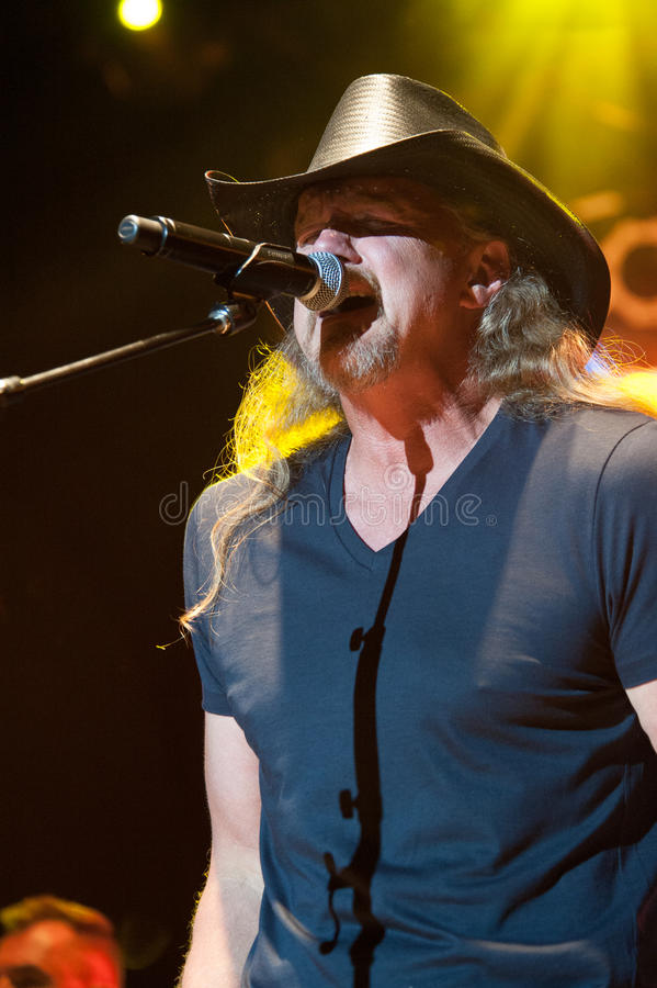 Trace Adkins. CITRUS HEIGHTS, CA - August 29: Trace Adkins performs at the Sunrise at Night Concert Series at Sunrise Marketplace in Citrus Heights, California royalty free stock photo