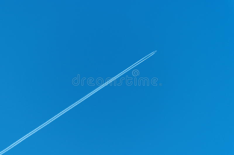 Download Trace of the aircraft stock photo. Image of nature, heaven - 19699356