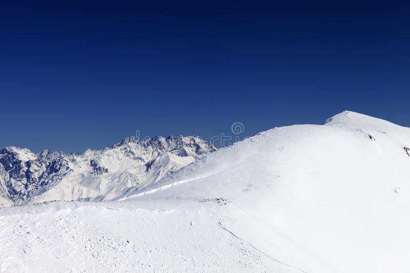 Download Trace Of Avalanche On Off-piste Slope Stock Photo - Image: 26363054