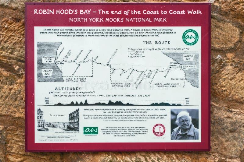 Trace, bahía del ` s de Robin Hood, costa para costear el paseo imágenes de archivo libres de regalías