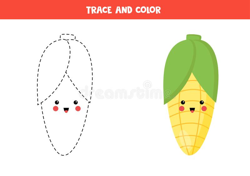 Sweet corn colouring page for kids    COLORING-PAGES-PRINTABLE.COM   566x800