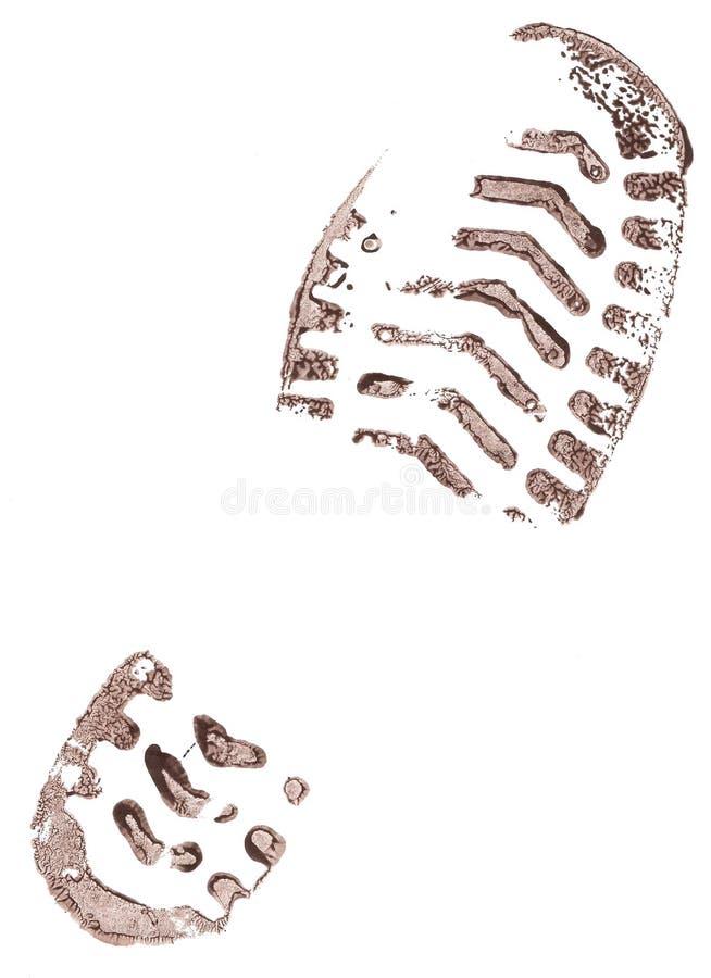 Trace des chaussures. illustration de vecteur