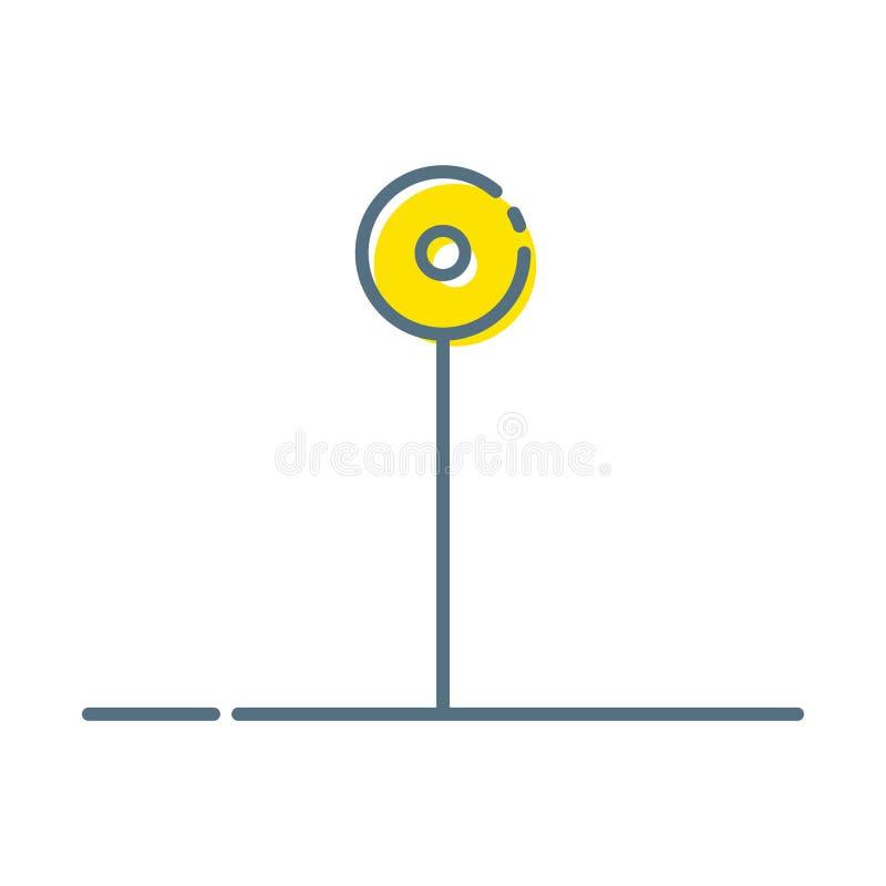 Trace do estilo liso do projeto do pino o ?cone moderno, s?mbolo m?nimo do vetor do ponteiro, sinal do marcador ilustração royalty free