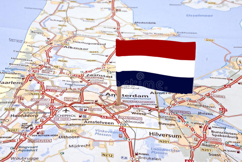Download Trace Dos Países Baixos Com A Bandeira Holandesa Imagem de Stock - Imagem de sinal, capital: 16870075