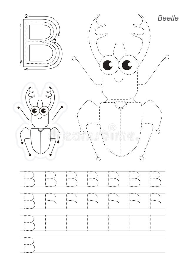 Letter Tracing - Lower Case b - Handwriting Practice