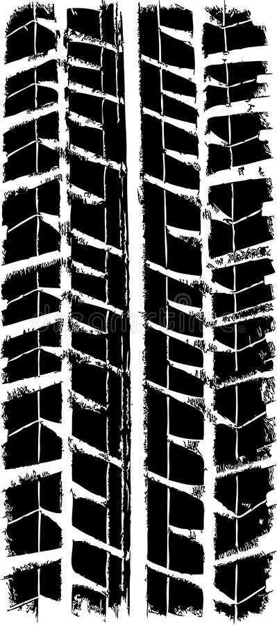 Trace tyre. Trace of the winter tyre, vector stock illustration