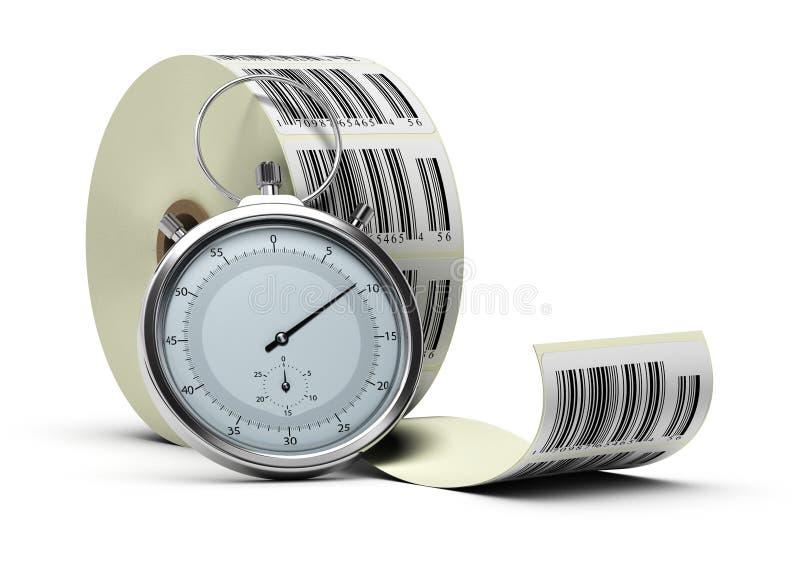 traceability времени снабжения иллюстрация вектора