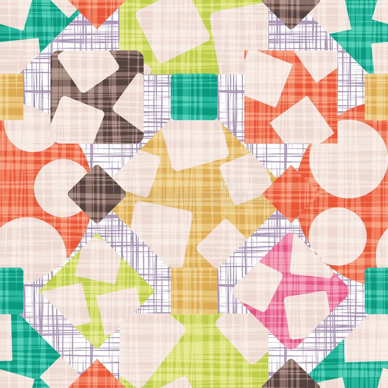 Tracery is an abstract print with geometric shapes. stock illustration