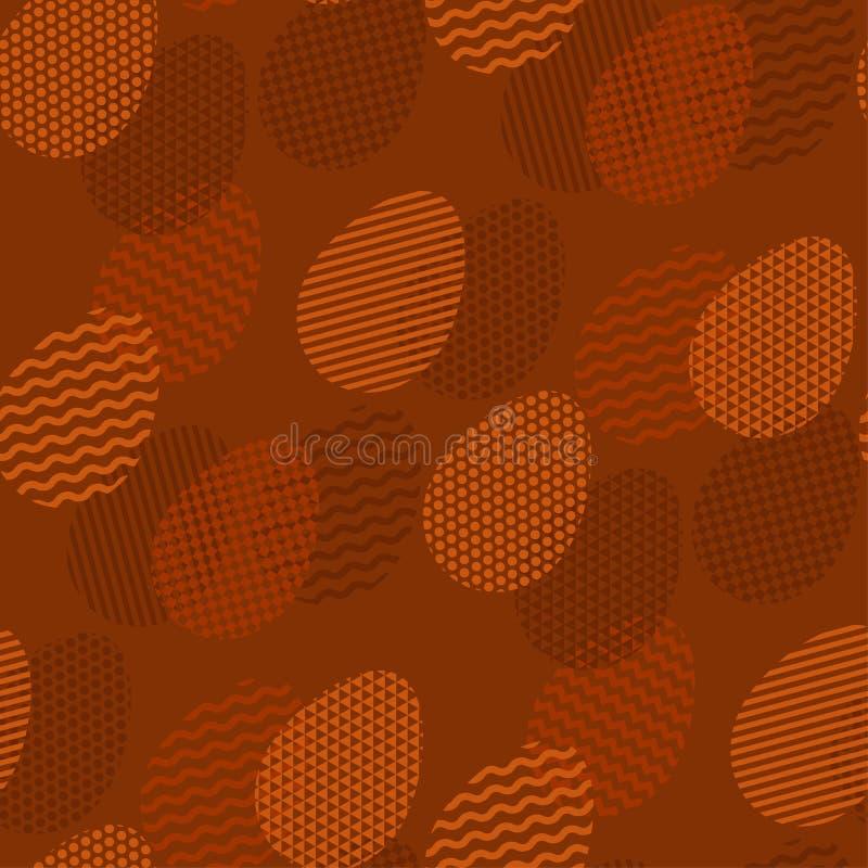 Tracery da geometria no ovo da páscoa no teste padrão sem emenda ilustração stock