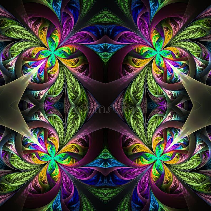 Tracery multicolor simétrico del fractal Colección - patt escarchado libre illustration