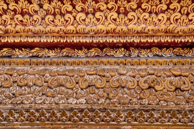 Tracery op muurtempel royalty-vrije stock afbeelding