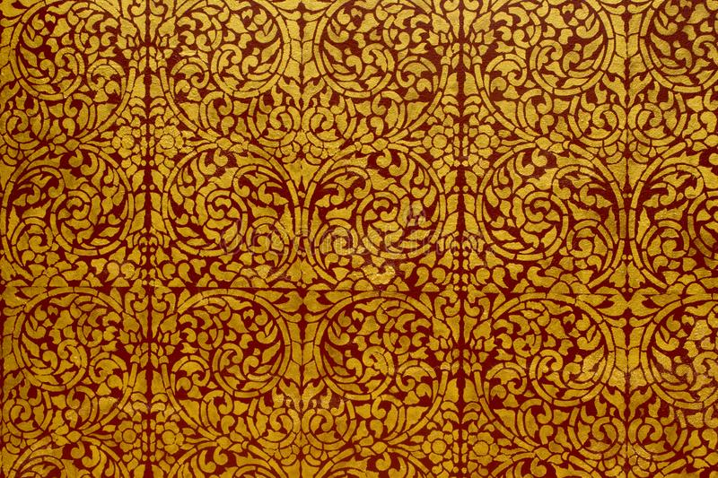 tracery in a temple in Thailand stock photography