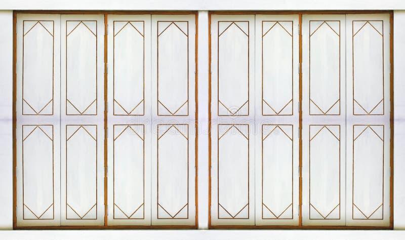 Tracery van vensters met de stijl van Thailand stock afbeeldingen