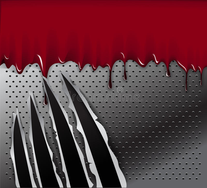 Download Traces Of An Animal Claws And Blood Stock Vector - Illustration: 21826928