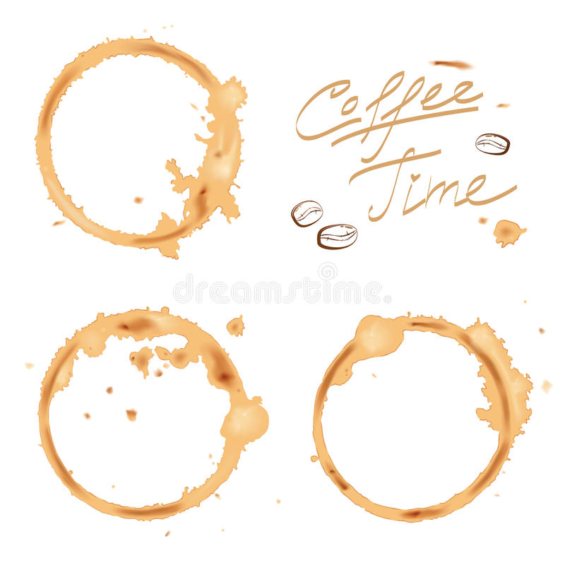 Traces coffee royalty free illustration