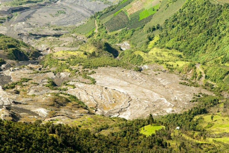Traces d'éruption volcanique image libre de droits