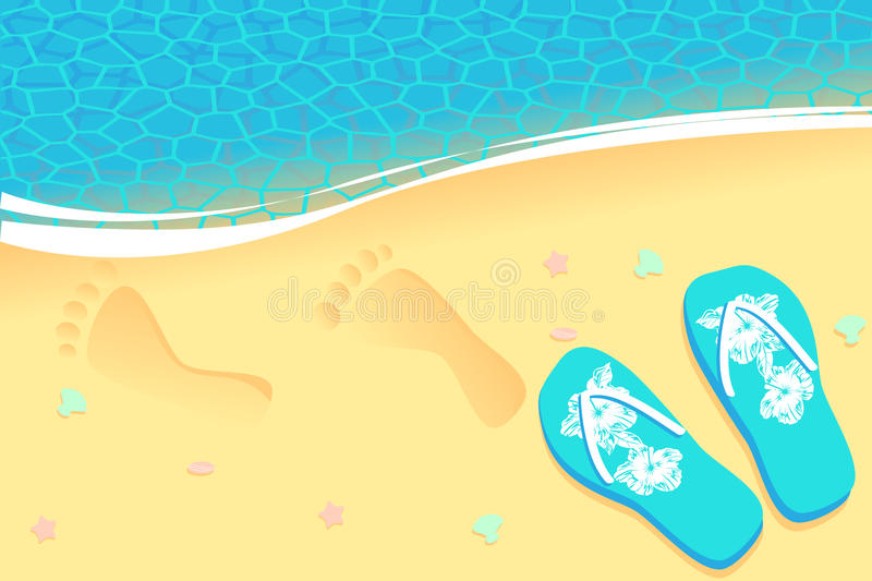 Traces on sand royalty free illustration