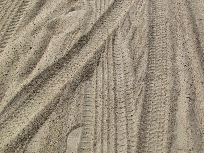 Marks in the sand. Traces in the sand of the beaches royalty free stock photos