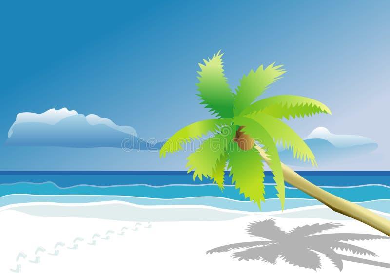 Traces sur la plage illustration stock