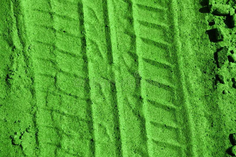 Traces of wheeled vehicles texture . Traces of wheeled vehicles texture stock photos