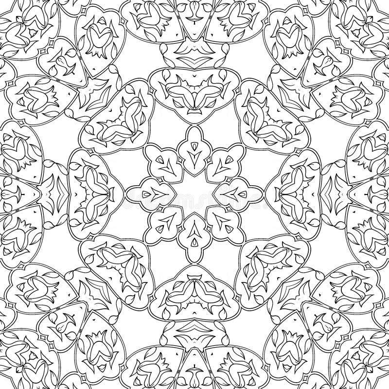 Traceur symétrique pour coloration Page de coloration pour enfants et adultes image stock