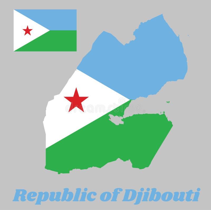 Drapeau De Djibouti Sur Le Fond En Bois De Mur Texture