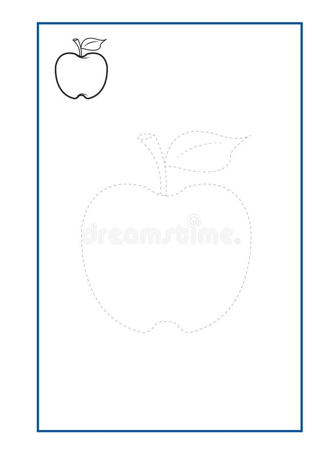 Tracing Lines game vector for preschool or kindergarten and special Education. Tracing Lines for developing fine motor skills. Tracing Lines game vector for vector illustration