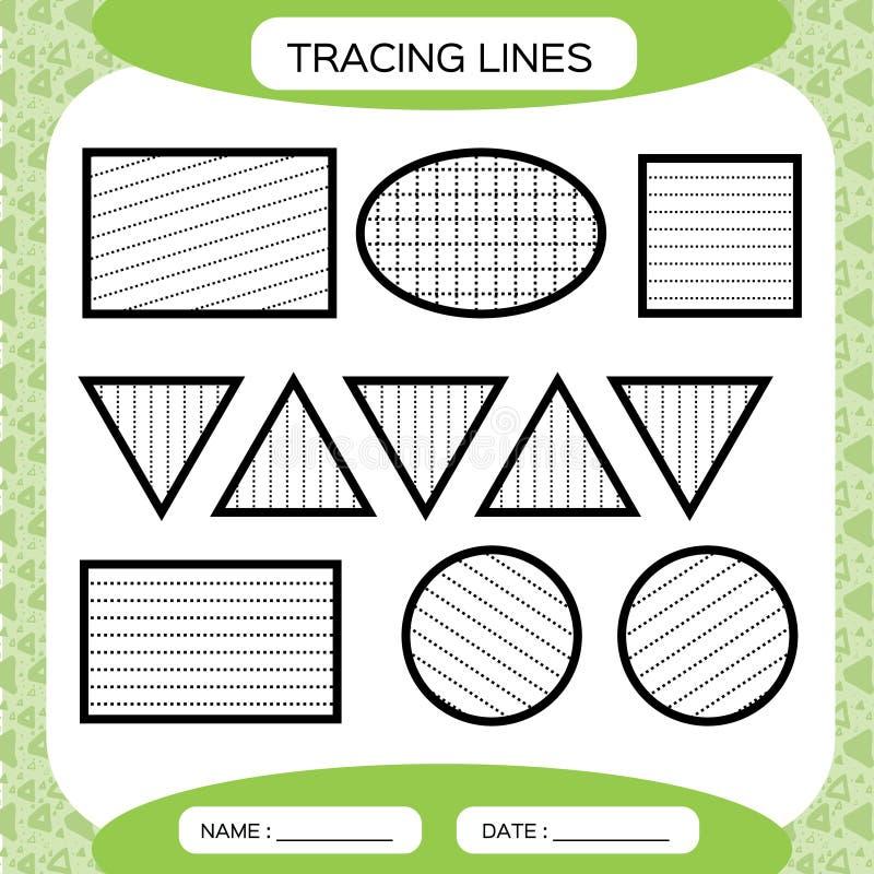 Tracing Lines. Kids Education. Preschool Worksheet. Basic Writing. Kids  Doing Worksheets. Fine Motor Skills. Green Stock Vector - Illustration Of  Educate, Dash: 122702019