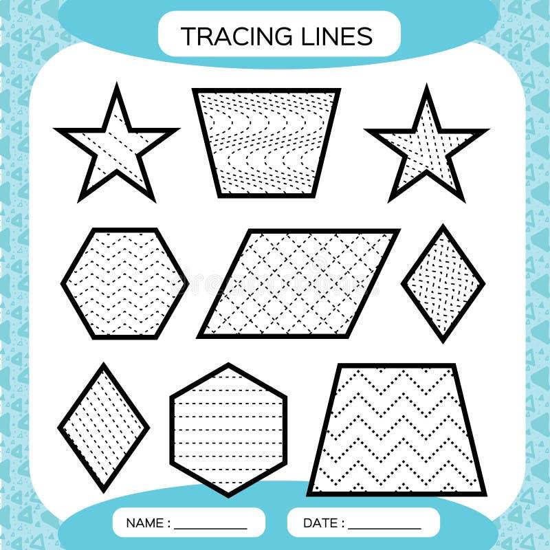 Tracing Lines. Kids Education. Preschool Worksheet. Basic Writing. Kids  Doing Worksheets. Fine Motor Skills. Waves And Stock Vector - Illustration  Of Motor, Geometry: 123291523