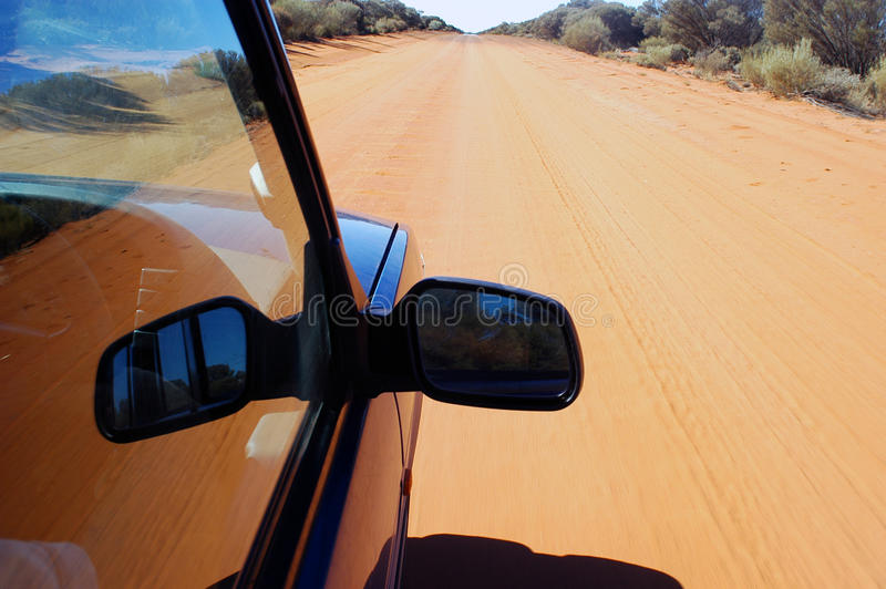 On the track. To cross the Australian desert royalty free stock photography
