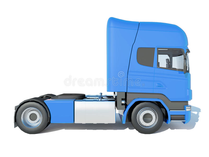 Track blue cab side view stock illustration