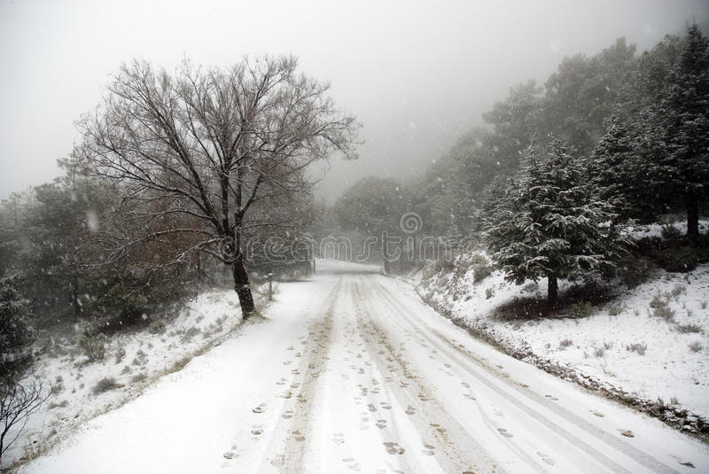 Download Track car and footprint stock photo. Image of moody, blizzard - 11546334