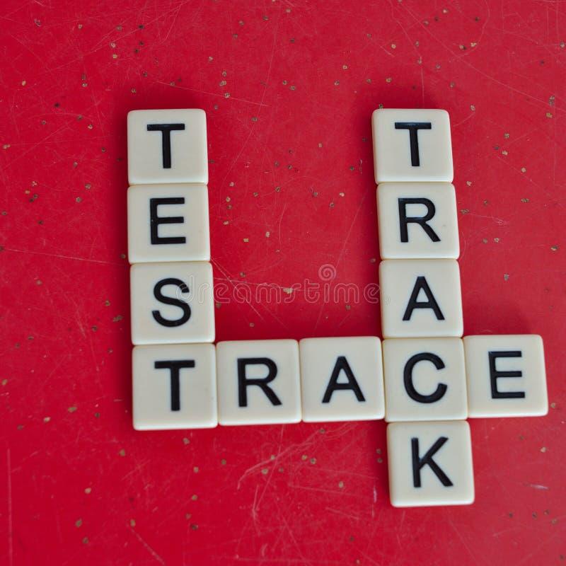 TracK Covid-19冠状病毒作用试验 库存图片