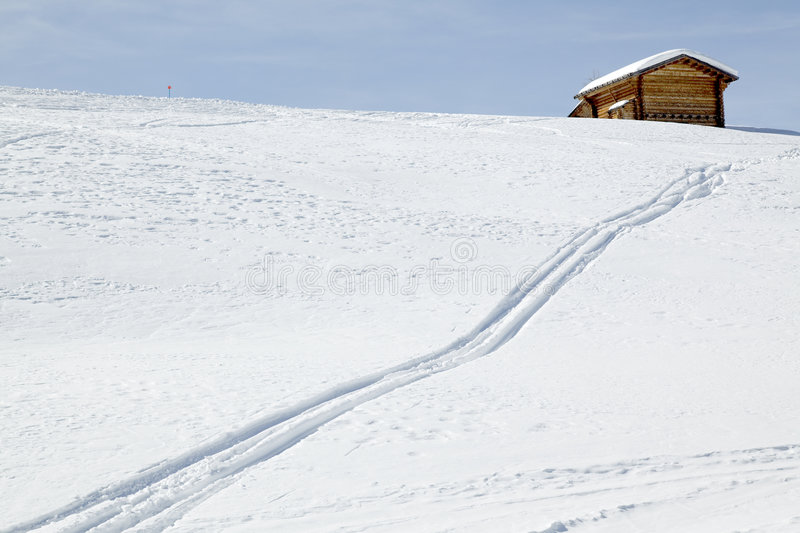 Download Track downhill stock photo. Image of diagonal, winter - 9264046