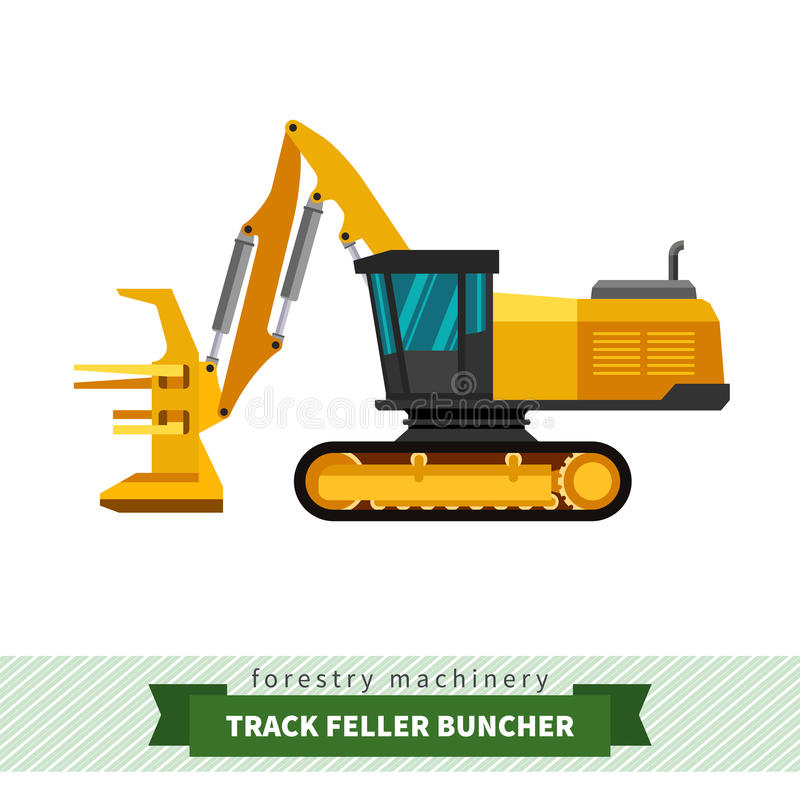 Free Track Feller Buncher Royalty Free Stock Images - 68600279