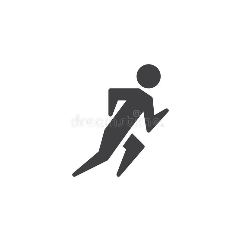 Track and field athlete vector icon. Filled flat sign for mobile concept and web design. Sprinter runner man glyph icon. Symbol, logo illustration. Pixel stock illustration