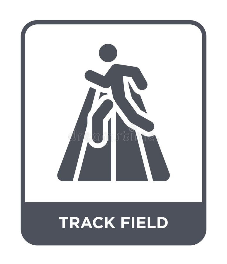 Track field icon in trendy design style. track field icon isolated on white background. track field vector icon simple and modern. Flat symbol for web site royalty free illustration
