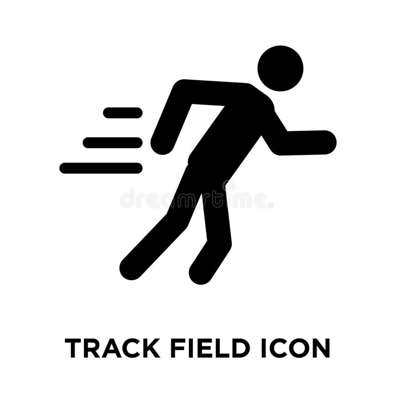 Track Field icon vector isolated on white background, logo concept of Track Field sign on transparent background, black filled. Track Field icon vector isolated royalty free illustration