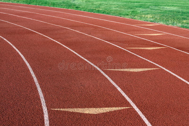 Track and Field Lanes stock photo
