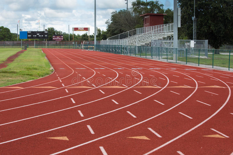 Track and Field Park. This track and field facility is a symbol of the importance of sports and athletics as an instrument in preparing students for the future stock photography