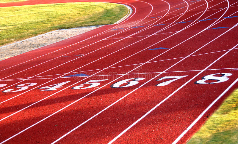 Track Field Starting Line Stock Photography