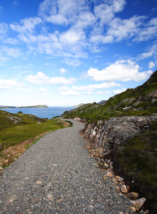 Track in the highlands royalty free stock photo